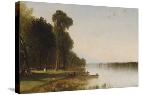Summer Day on Conesus Lake, 1870-John Frederick Kensett-Stretched Canvas Print