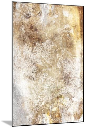 Floral Takeover Gold-Jace Grey-Mounted Art Print
