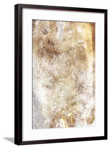 Floral Takeover Gold-Jace Grey-Framed Art Print