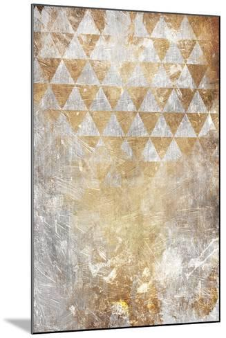 Triangular Takeover Gold-Jace Grey-Mounted Art Print