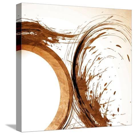 Copper Swirls 2-Kimberly Allen-Stretched Canvas Print