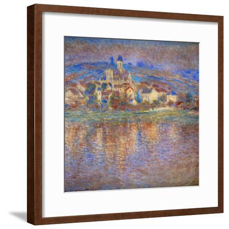 Sunset in Vetheuil, 1900-Claude Monet-Framed Art Print