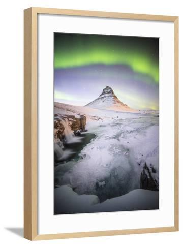 The Kirkjufell Green Arch-Philippe Manguin-Framed Art Print