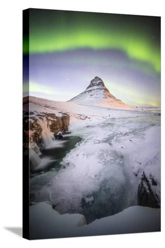 The Kirkjufell Green Arch-Philippe Manguin-Stretched Canvas Print