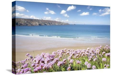 The Trepassed Bay And Beach In Brittany-Philippe Manguin-Stretched Canvas Print