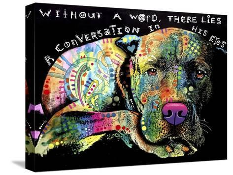 Without a Word-Dean Russo-Stretched Canvas Print