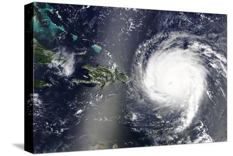 Hurricane Irma is Heading towards the Caribbean Sea - Elements of this Image Furnished by NASA-lavizzara-Stretched Canvas Print