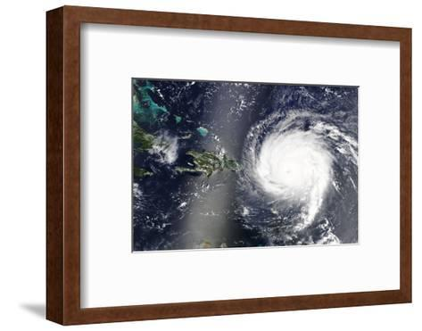 Hurricane Irma is Heading towards the Caribbean Sea - Elements of this Image Furnished by NASA-lavizzara-Framed Art Print