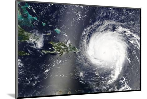 Hurricane Irma is Heading towards the Caribbean Sea - Elements of this Image Furnished by NASA-lavizzara-Mounted Photographic Print