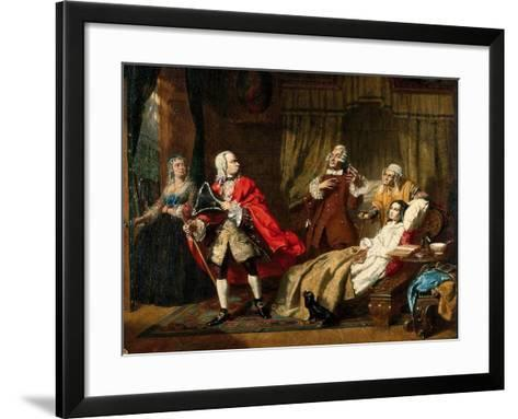 Oliver Goldsmith's Medical Advice Rejected By His Patient In Favour Of The Advice Of The Apothecary-Thomas P Hall-Framed Art Print
