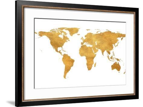 Gold world map art print by art gold world map framed art print gumiabroncs Gallery