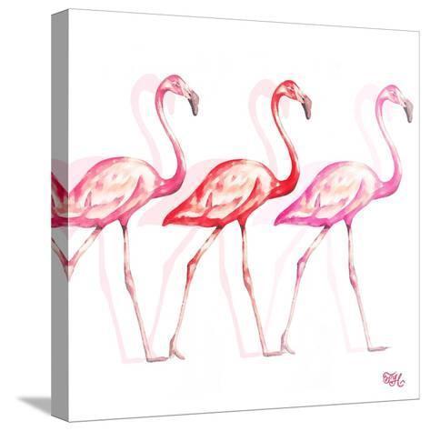 Flamingo Trio I-Tiffany Hakimipour-Stretched Canvas Print