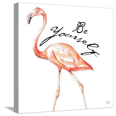 Be Different Flamingo II-Tiffany Hakimipour-Stretched Canvas Print