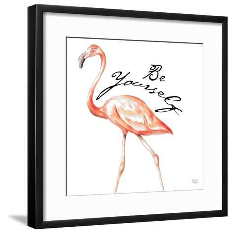 Be Different Flamingo II-Tiffany Hakimipour-Framed Art Print