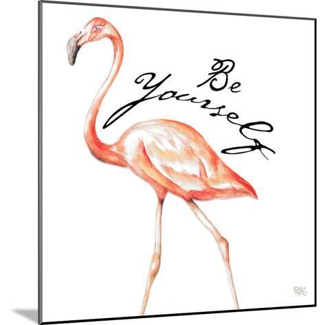 Be Different Flamingo II-Tiffany Hakimipour-Mounted Art Print