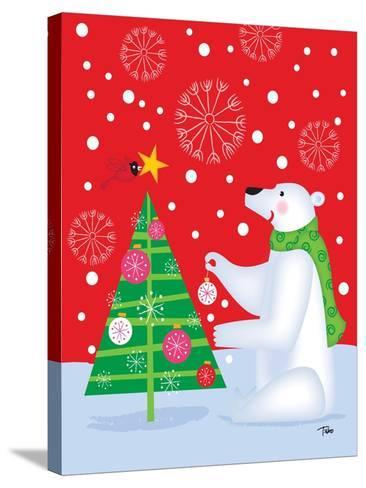 Polar Bear & Tree-Teresa Woo-Stretched Canvas Print