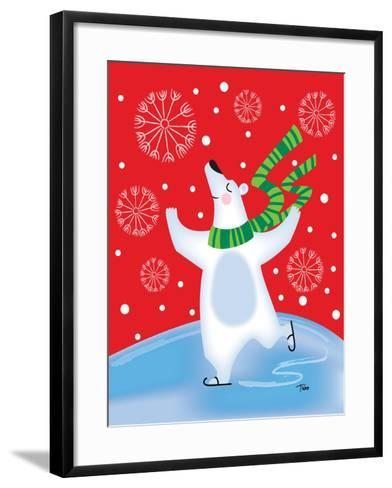 Polar Bear Arabesque-Teresa Woo-Framed Art Print
