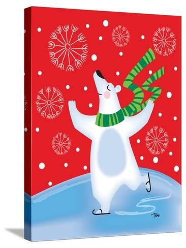 Polar Bear Arabesque-Teresa Woo-Stretched Canvas Print