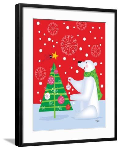 Polar Bear & Tree-Teresa Woo-Framed Art Print