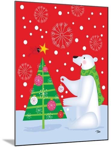 Polar Bear & Tree-Teresa Woo-Mounted Art Print