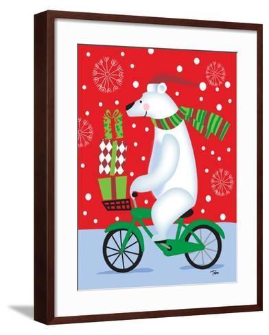 Polar Bear & Bicicle-Teresa Woo-Framed Art Print