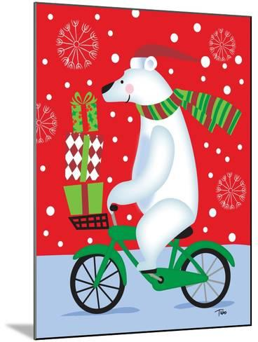 Polar Bear & Bicicle-Teresa Woo-Mounted Art Print