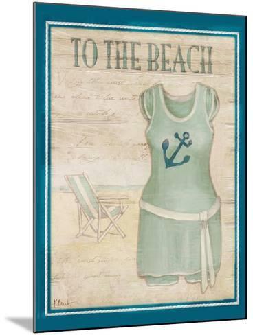 Vintage Bathing Suit IV-Paul Brent-Mounted Art Print