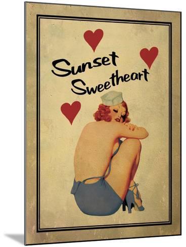 Sunset Sweetheart-Jason Giacopelli-Mounted Art Print