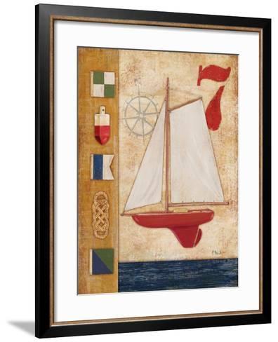 Model Yacht Collage III-Paul Brent-Framed Art Print