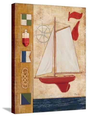 Model Yacht Collage III-Paul Brent-Stretched Canvas Print