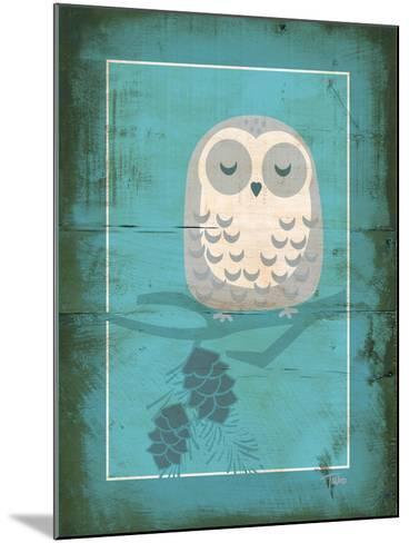 Rustic Woodland Owl-Teresa Woo-Mounted Art Print