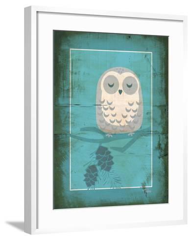 Rustic Woodland Owl-Teresa Woo-Framed Art Print