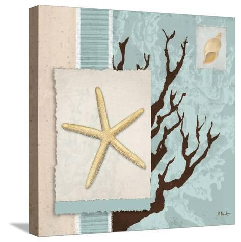 Aquarius Blue Sq III-Paul Brent-Stretched Canvas Print
