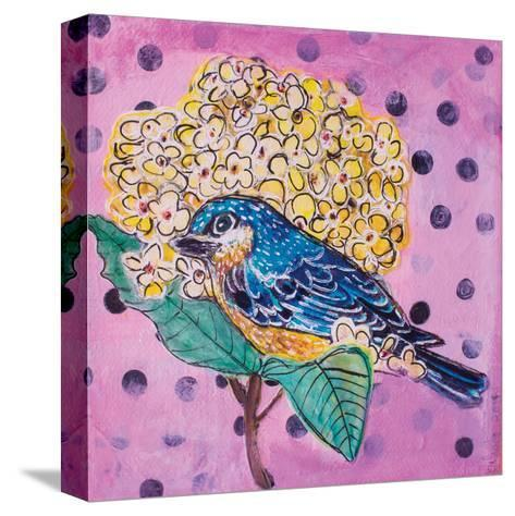 Blue Bird-Belinda Dworak-Stretched Canvas Print