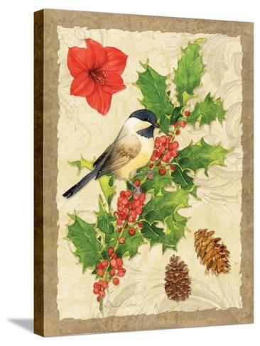 Holiday Chickadee-Julie Paton-Stretched Canvas Print