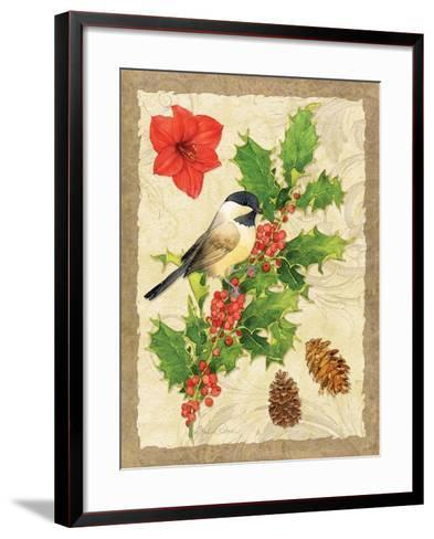 Holiday Chickadee-Julie Paton-Framed Art Print
