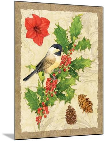 Holiday Chickadee-Julie Paton-Mounted Art Print