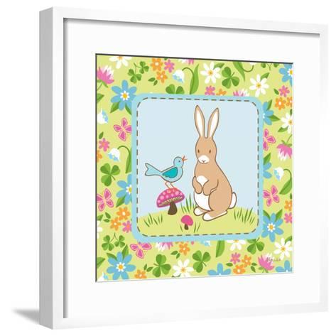 Meadow Bunny II-Betz White-Framed Art Print