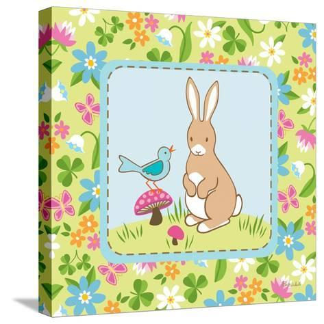 Meadow Bunny II-Betz White-Stretched Canvas Print