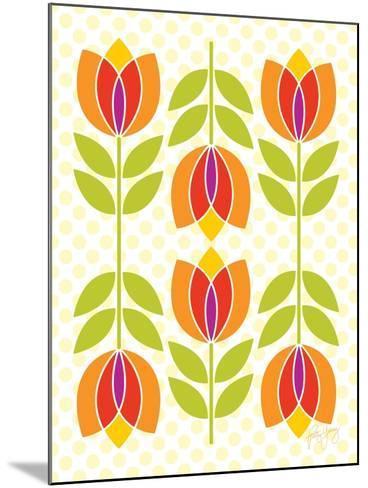 Mod Tulips I-Patty Young-Mounted Art Print