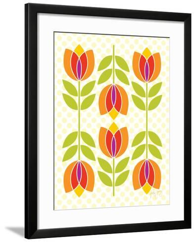 Mod Tulips I-Patty Young-Framed Art Print