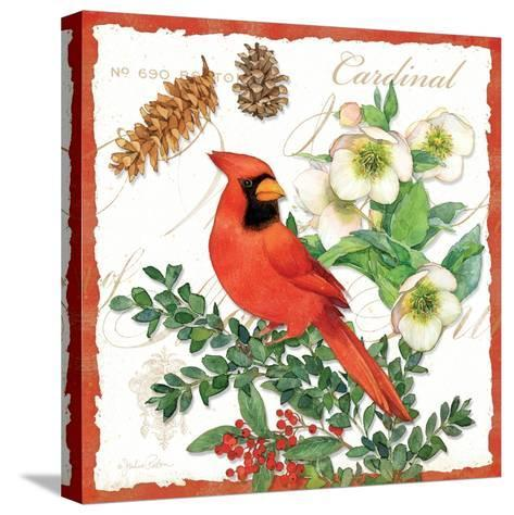 Holiday Birds II-Julie Paton-Stretched Canvas Print