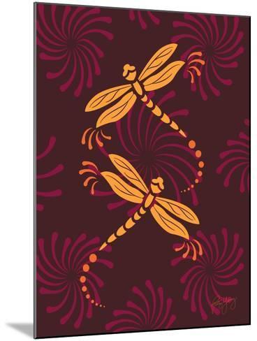 Modern Dragonflies-Patty Young-Mounted Art Print