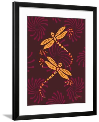 Modern Dragonflies-Patty Young-Framed Art Print