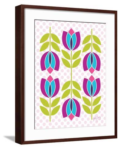 Mod Tulips III-Patty Young-Framed Art Print