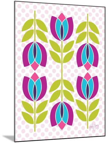 Mod Tulips III-Patty Young-Mounted Art Print