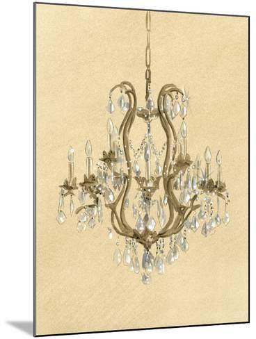 Elegant Chandelier II- Laurencon-Mounted Art Print