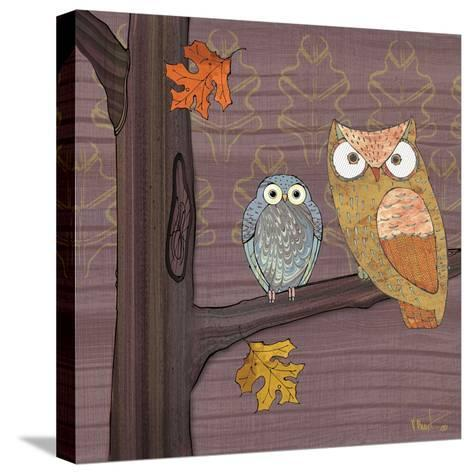 Awesome Owls IV-Paul Brent-Stretched Canvas Print