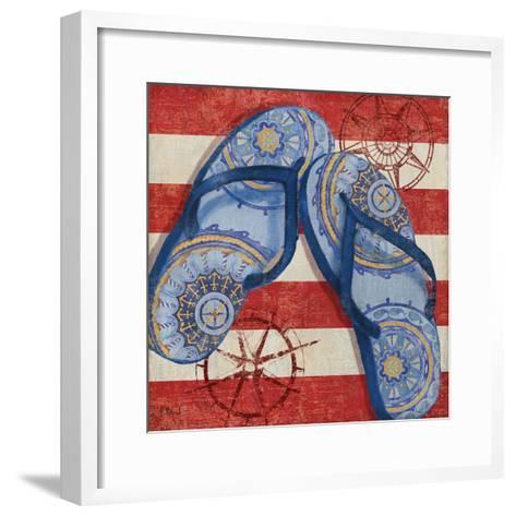 Nautical Flip Flops II-Paul Brent-Framed Art Print
