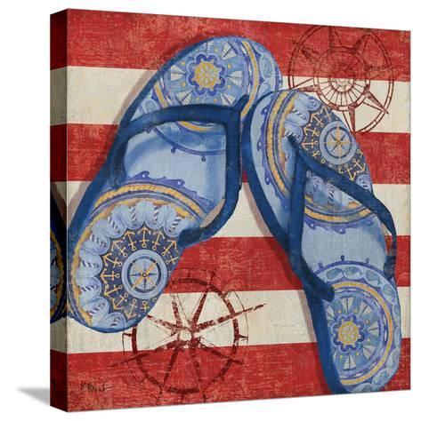 Nautical Flip Flops II-Paul Brent-Stretched Canvas Print